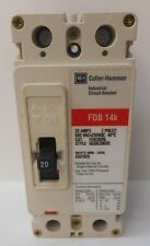 CUTLER HAMMER, INDUSTRIAL CIRCUIT BREAKER, PART NO FDB2020L, 20 AMPS, 2 POLES