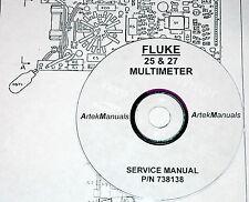 FLUKE 25 & 27  Multimeter:Service Manual (w/ schematics)