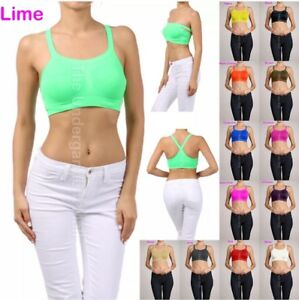 3 Bra 6 Tube Top SPORT Bras Yoga 5 Way Workout Seamless ACTIVE TOP CAMI ONE SIZE