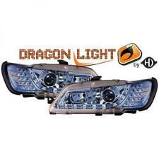 Scheinwerfer Set für Peugeot 306 93-97 Klarglas/Chrom LED Dragon Lights