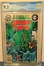 SWAMP THING ANNUAL 2 CGC 9.2 NEWS STAND 1ST CAMEO JLD O-W TO WP