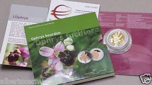 2012 5 euro Ag LUSSEMBURGO Ophrys Bourdon Luxembourg Luxemburg Letzebuerg