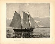 Rare 1887 Antique Fisheries Fish Print ~ The Herring Fishery ~ Collection