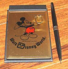 Walt Disney World Vintage Desk Top Memo Pad with Paper & Pen Souvenir *READ*