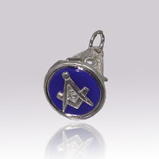 More details for  masonic seal pendant fob solid silver hallmarked