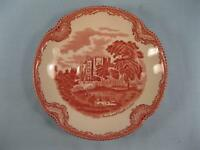 Old Britain Castles Pink Saucer For Footed Cup Johnson Brothers Crown Back (O)