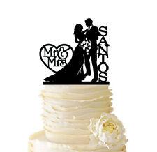 Couple Loving Wedding Cake Topper Personalized Last Name Engagement Decorations