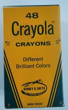 Vintage Crayola Crayons Binney and Smith Pack of 48 RARE! Great Shape