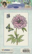 New Studio Light Janneke Brinkman A6 clear rubber Stamp FLOWERS PEONY