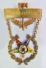 1929 14K Eastern Star Hope Chptr 78 Past Worthy Matron Patron Medal Pin 12.7g