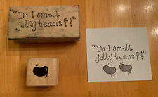 """Great Impressions #C262 """"Do I Smell Jelly Beans"""" Rubber Stamp Plus D.O.T.S. Bean"""