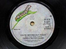 """CAROLE BAYER SAGER YOU'RE MOVING OUT TODAY 7"""" 1977 WITH ACES UK"""