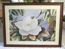 "Large 33 ""X 43"" Original Watercolor Painting Gardenia Magnolia Floral Still Life"