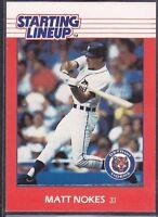 1988  MATT NOKES - Kenner Starting Lineup Card - DETROIT TIGERS