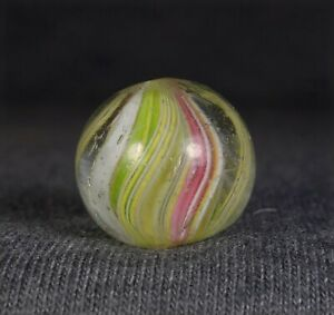 """MINT 23/32"""" ANTIQUE GERMAN HANDMADE """"DIVIDED CORE"""" SWIRL MARBLE"""