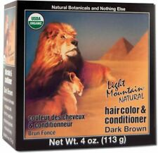 Natural Hair Color & Conditioner Dark Brown, Light Mountain, 4 oz