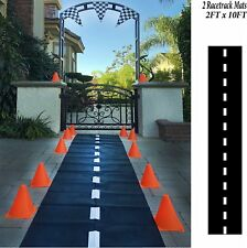 2pk Racetrack Floor Runner Nascar Party Decorations Hotwheels Table Runner