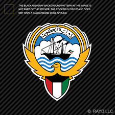 Kuwaiti Emblem Sticker Decal Self Adhesive Vinyl Kuwait flag KWT KW