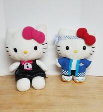 "Hello Kitty 10"" Sushi Chef AFC 30th Anniversary & Hello Kitty12"" Tuxedo Plush"
