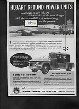 AMERICAN AIRLINES BOEING 707 1959 HOBART GROUND POWER UNITS AD