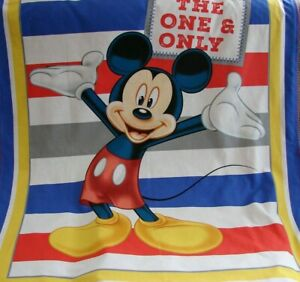 Mickey Mouse The One And Only Cotton Top Red Minkee Cot Blanket Handmade