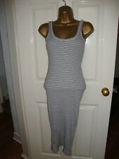 NEW Atmosphere Grey Striped Maxi Dress Size 6 RRP £14