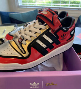 Adidas Forum 84 The Simpsons Duff Beer Shoes Mens Size 13 NEW Red white Silver