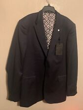 Ted Baker Debonair Plain Suit Black Mens Blazer Jacket 42L $829