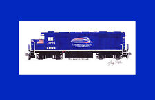 """Patriot Rail (L&NW) GP38-3 11""""x17"""" Matted Print Andy Fletcher signed"""