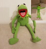 X2 Kermit Plush - Rare 2000 Kermit Frog Posable Arms & Legs & Slinky The Muppets