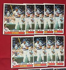 Lot Of 19 1979 Topps Baseball Dave Kingman Card # 370 SP3