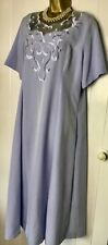 LADIES DRESS Size 18 NEW Mother Of The Bride A Line Pale Blue Short Sleeves Lace