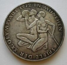Germany 10 Mark 1972-D Olympic Games in Munich KM#132 Silver Coin ** UNC Toned