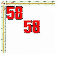 adesivi marco simoncelli super sic 58 stampa pvc auto moto tounig 2 pezzi