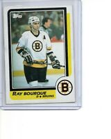 1986-87 Topps #1 Ray Bourque Boston Bruins SEE SCANS