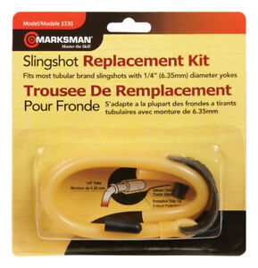 "Marksman Slingshot Replacement Band Kit 1/4"" diameter Yoke #3330 NEW"