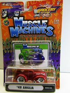 """Muscle Machines 1:64 Scale """"Grocery Getters"""" '48 Anglia Van Candy # GG03-06"""