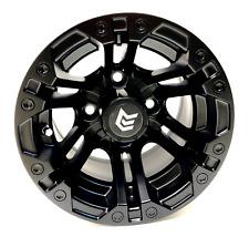Set of 4 - 10 inch Golf Cart Matte Black GTW Specter Beta Wheel With 3:4 Offset