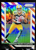 MARQUEZ VALDES SCANTLING 2018 Prizm Rookie RC Red White Blue SP #240 PACKERS