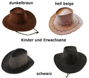 Western Cowboy Hut - Westernhut Fasching Western Erwachsene und Kinder