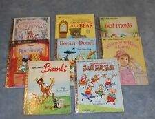 Little Golden Books Lot Of 8 Hardcover Books - Good - SET