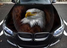 Eagle Birds Car Hood Wrap Full Color Vinyl Sticker Decal Fit Any Car