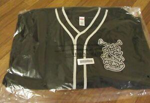 Supreme Patches Denim Baseball Jersey Size Large Black SS21 Supreme New York DS