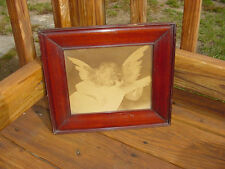 VINTAGE WOOD FRAMED COPY OF FIORENTINO'S MUSICIAN ANGEL