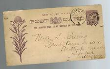 1890 Sydney Australia postal stationery postcard cover PresbytarianChurch Toorak