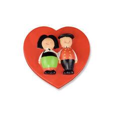 Magnet Jeannala et Seppala coeur rouge