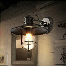 Industrial Retro Vintage Rustic Single Light Metal Iron Nautical Wall Sconce