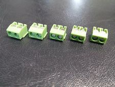 5 PACK - 2 Pole 5mm Pitch PCB Mount Screw TermInal Block Connector 8A 250V