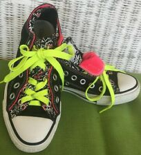 Converse All Star Womens Punk Rock Girl Low Top Shoes 7 Double Tongue And Laces