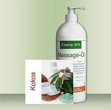 """Esana SPA Aroma Massageöl """"Kokos"""" für Beauty & Wellness 1 Liter mit Dosierpumpe"""